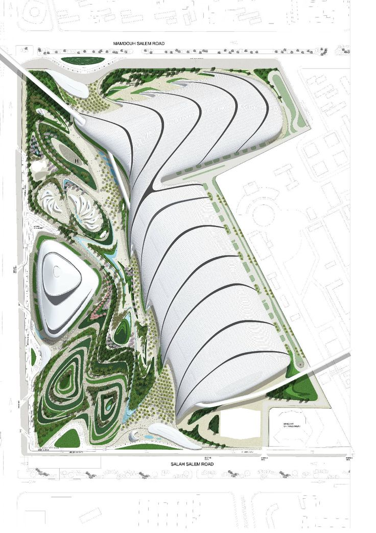Zaha Hadid, Cairo expo city, 2009, I love how this site plan looks like it could have been an abstract painting that could be seen hanging on someones wall, beautiful.