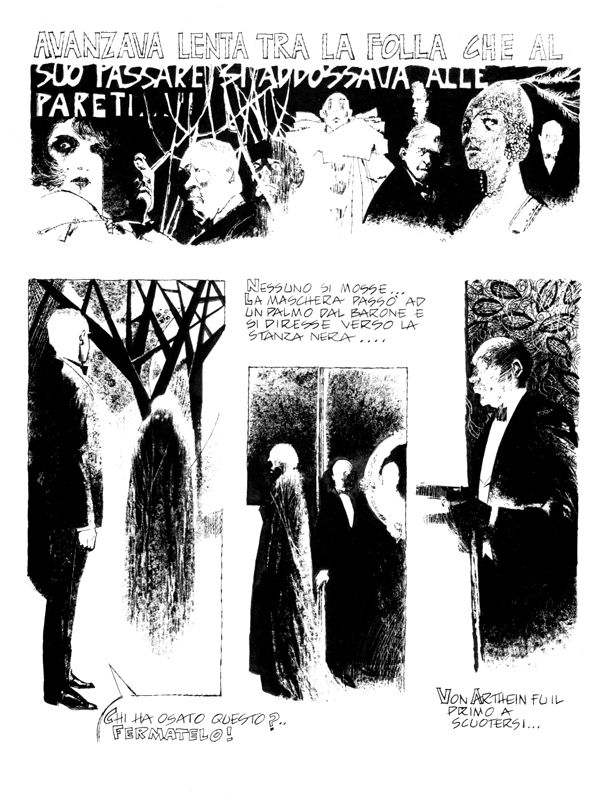 Dino Battaglia, La maschera della morte rossa, Milano Libri