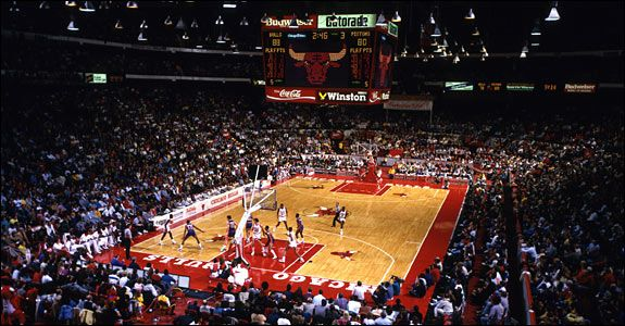 Chicago Stadium - Opened on March 28, 1929, the Chicago Stadium served host to numerous sporting events, concerts and political conventions. Built at a cost of seven million dollars, the Madhouse on Madison served as the home of the Chicago Bulls (1967-1994) and the Chicago Blackhawks (1929-1994) through the end of their respective seasons in 1994.