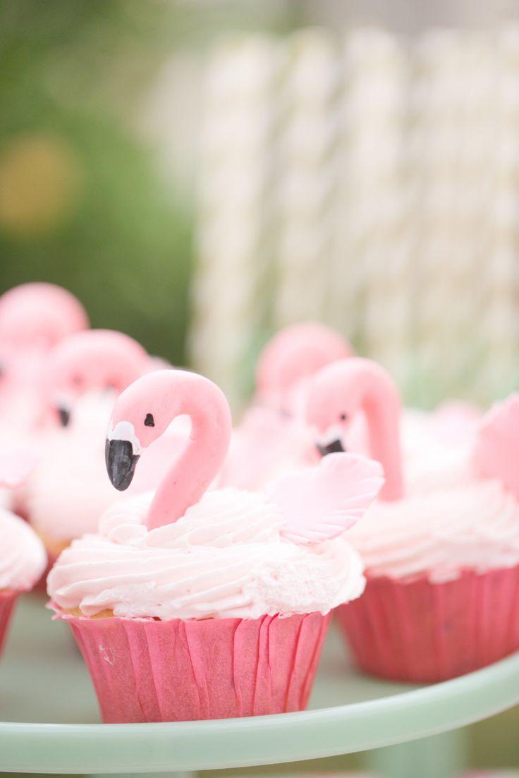 Pink Flamingo Wedding Cake Toppers