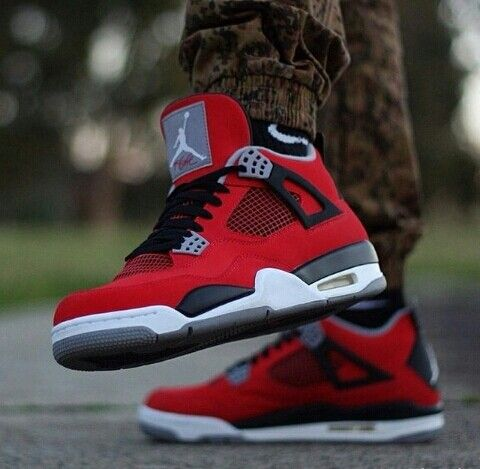nike shoes outlet 2014 popular air jordan 4 all red chcheap nike shoes