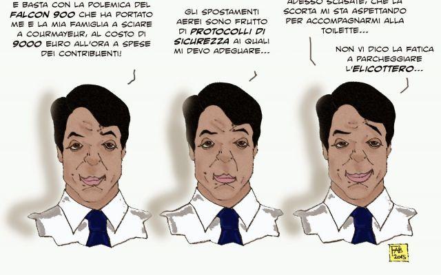 La stucchevole polemica del Falcon 900 a disposizione del caro leader #renzi #volidistato #m5s #courmayeur