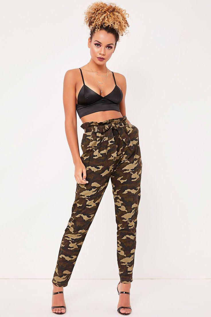 Nadine Green Camo Print Trousers