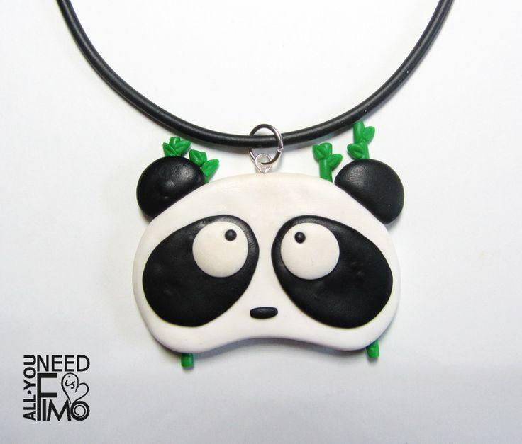 Caucciu necklace with fimo panda charm, now in my Etsy and AlittleMarket shop! - AlittleMarket: https://www.alittlemarket.it/collane/it_ciondolo_panda_gioielli_panda_collana_panda_gioielli_animali_ciondolo_animali_collana_animali_ciondolo_fimo_panda_fimo_bambu_fimo_-20280693.html \/ #fimo #polymerclay #artigianato #fattoamano #handmade #collana #necklace #ciondolo #pendant #charm #caucciù #panda #animali #animals #bamboo #animalslover #pandalover #pandas #etsy #epiconetsy…