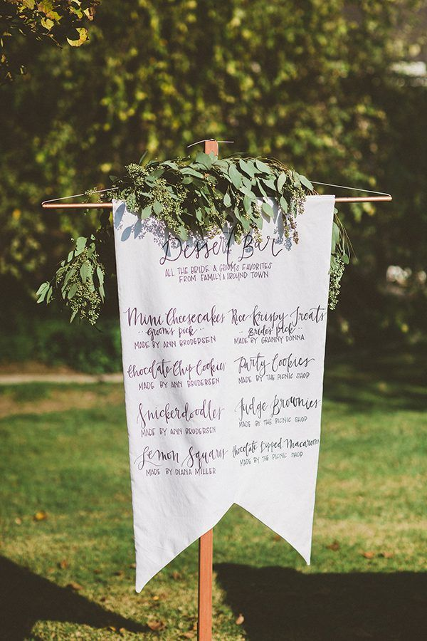 wedding dessert bar - photo by Gantes.Co http://ruffledblog.com/handcrafted-orchard-ranch-wedding