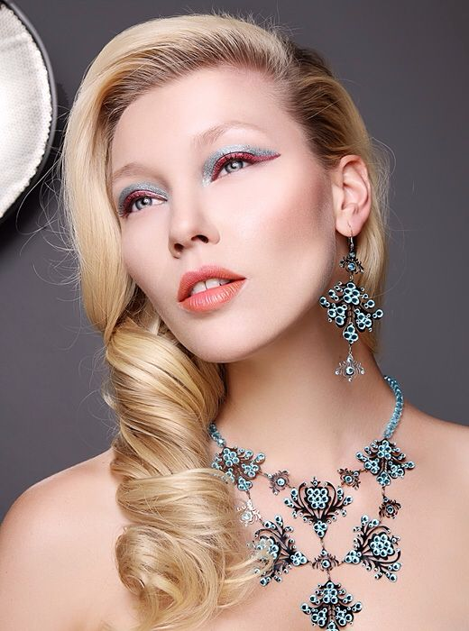 Photo: © Stanislava H. Hricova Beauty editorial Make up Hair Jewelery by Petra Toth Model