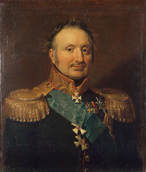 Painting of General Count Peter Ludwig Adolph Wittgenstein (1769-1843) Germany by George Dawe in The Military Gallery of the Winter Palace in St. Petersburg, Russia. The gallery holds the portraits of those who took part in the Patriotic War of 1812. He fought with Russian army against the French.