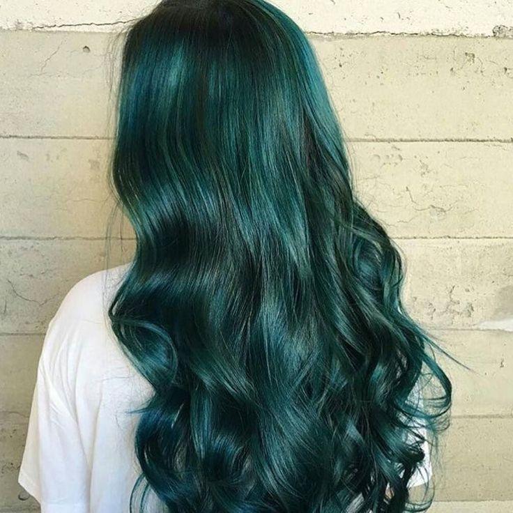 Best 25+ Dark green hair ideas on Pinterest | Emerald hair ...