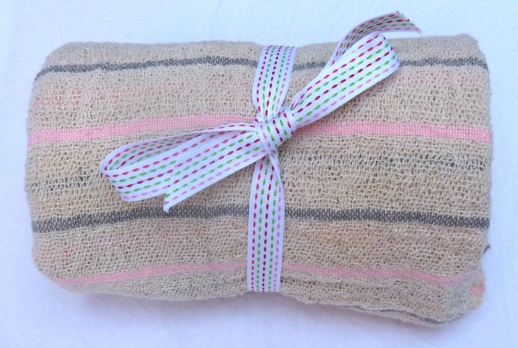 Pink and Grey Baby Blanket - 100% cotton - Hand Woven with Love in South Africa by MathildeAndCo on Etsy