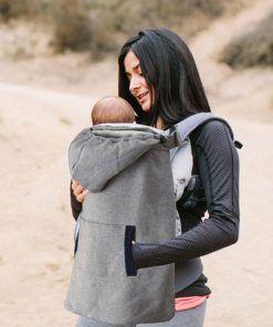 Winter Baby Carrier Newborns Cap Cloak Windproof Velvet Warm Backpacks Wrap Infant Baby Accessories Hoodie Backpack Holding Kid Activity & Gear