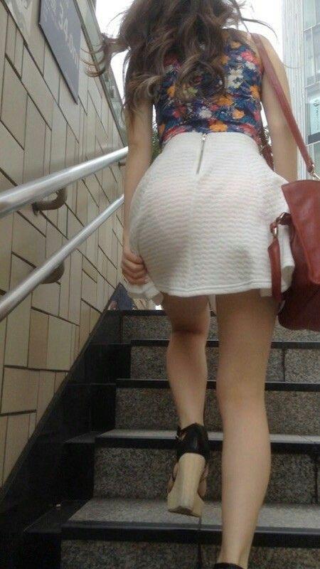 White dress visible panty line #vpl