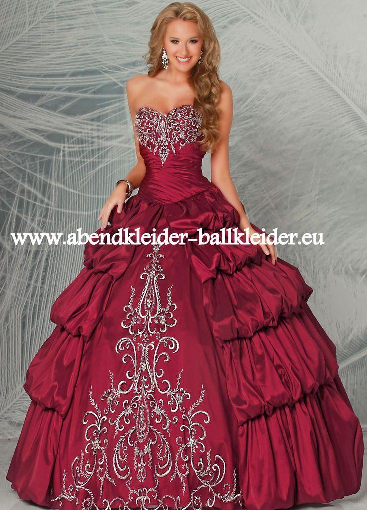 Cinderella Abend - Ballkleid Brautkleid Online in Weinrot Dunkelrot
