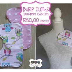 Burp cloth set owl girl #handcrafted #shoponline #burpcloth #babyessential #mommy #baby #moocachoo