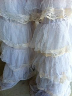Off White Lace Cowgirl Chaps this can be used to make bedding, a dust ruffle