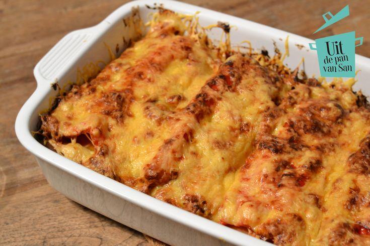 Lasagne met geroosterde groentes - Uit de pan van San