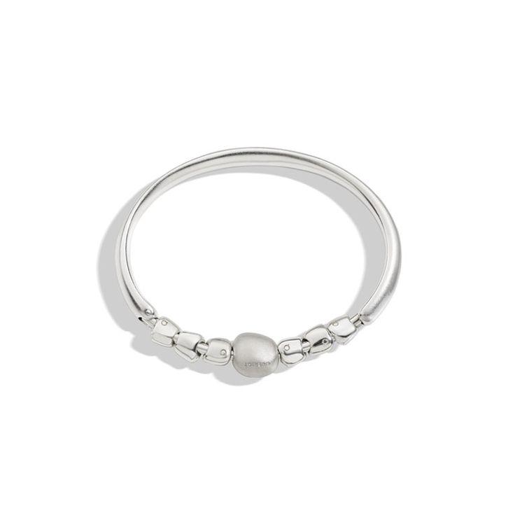 BE QUERIOT sasso sassolini argento bangle gioielli milano