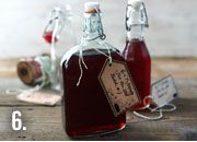 Sloe gin bottle with handmade label. Can't wait to get making!