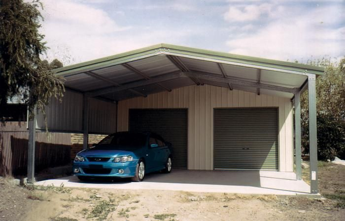 Steel garage kits with carports for sale garaports for Double garage kits