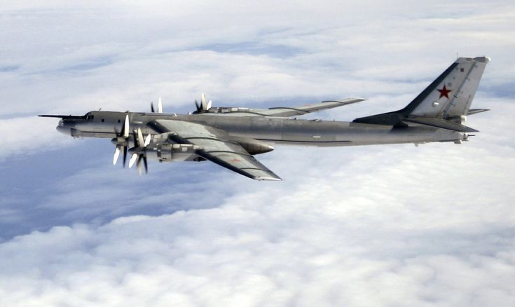 """Russian Tu-95 bombers skirted UK airspace & flown long range missions around Guam in Pacific & off California.Not new & reported by NATO & former Warsaw Pact since Cold War.In wake of Russia's annexation of Crimea, """"drastically"""" increased activity in Pacific & around Japanese islands,US PACAFbecoming concerned.In case someone thought bunch of unstealthy Tu-95s wandering globe pose no threat to anyone,Russia held live firing during which """"Bear"""" launched cruise missiles against ground targets."""