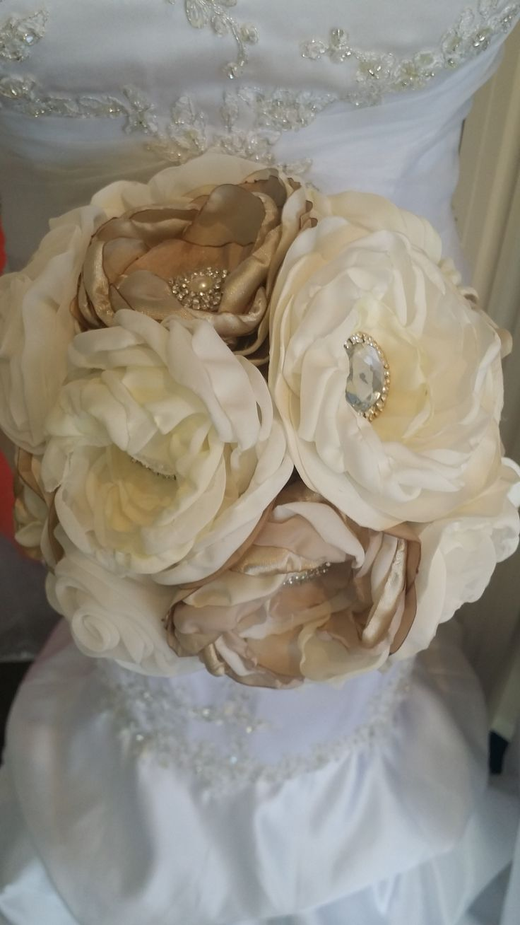 88 best fabric flowers, wedding bouquet, shabby chic images on ...
