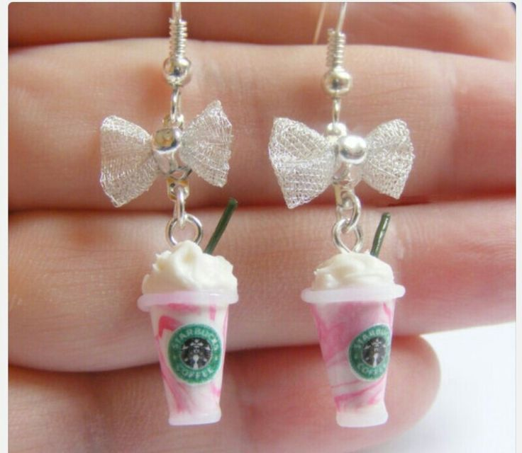 Starbucks earrings love these <3