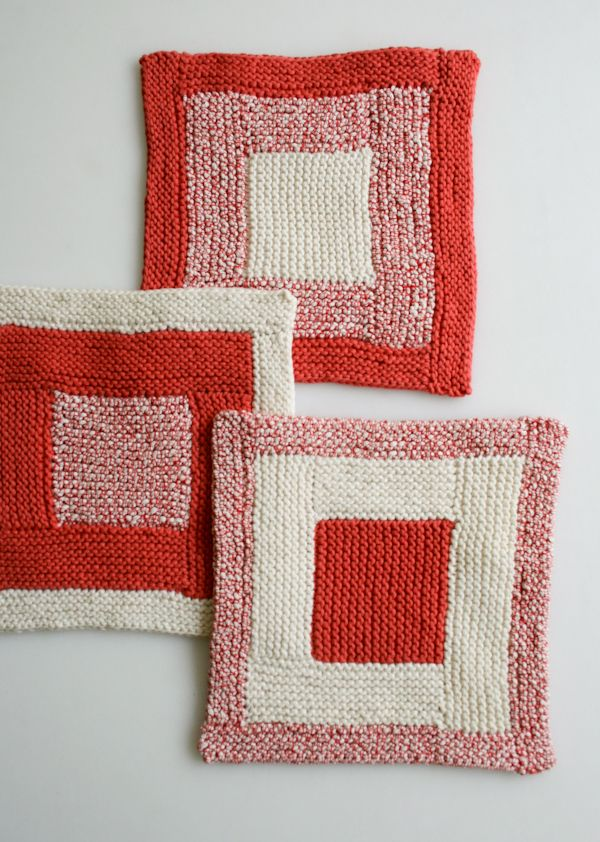 Whit's Knits: New Log CabinWashcloths - The Purl Bee - Knitting Crochet Sewing Embroidery Crafts Patterns and Ideas!