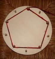 Montessori wheel or mandala of multiplication tables