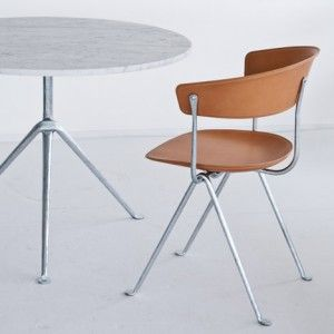 Bouroullec brothers forge wrought-iron frames for Officina furniture.