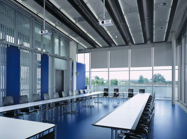 Conference Room with Vertical Blind System | Curtains and Blinds ...