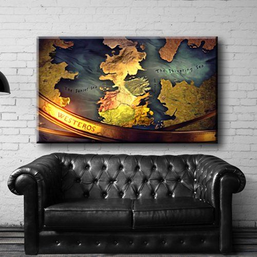 Large size 26x44 box framed canvas print artwork stretched gallery wrapped wall art painting hanging