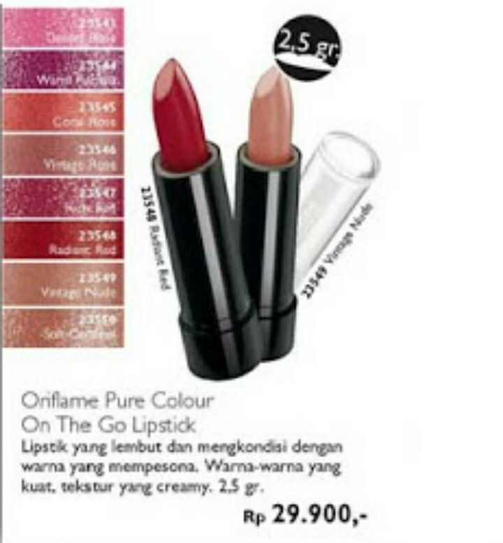 Oriflame Pure Colour On The Go Lipstick~ 2,5 gr