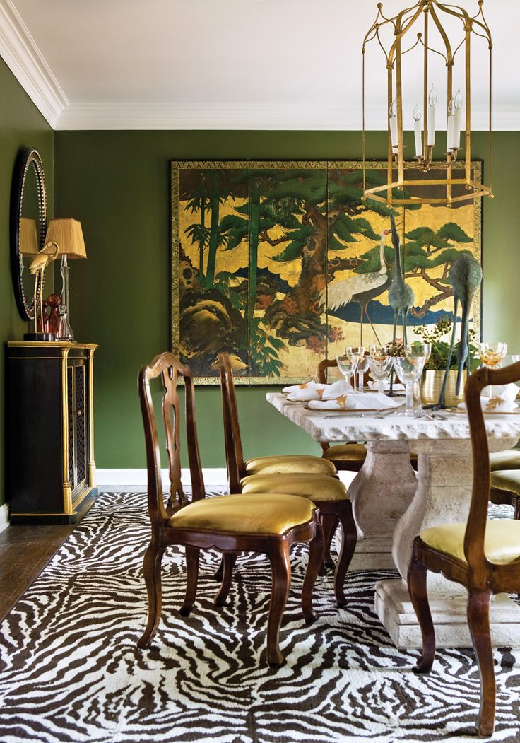 "Time to Dine: ""A good color palette will always leave a lasting impression,"" explains Interior Designer Amy Morris."