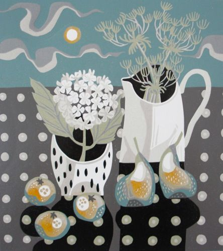Jane Walker Reduction Linocut