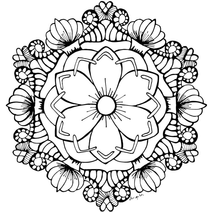 Flower Mandala Coloring Pages | Flower coloring pages ...