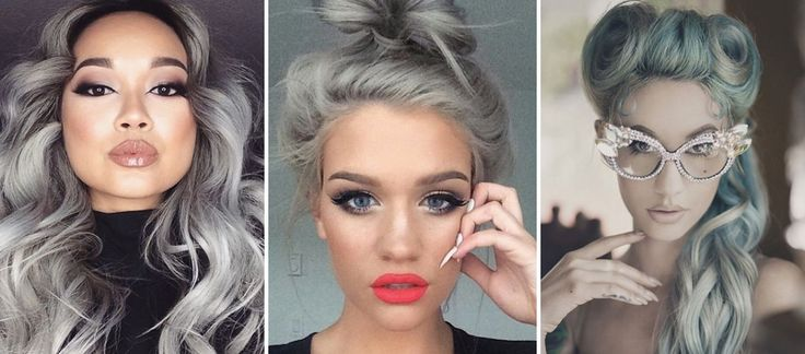 """Quando il colore """"della nonna"""" si trasforma in super sexy! I capelli si tingono di grigio e dettano una nuova tendenza: Granny Hair..."""