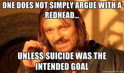 Redheads - arguably right