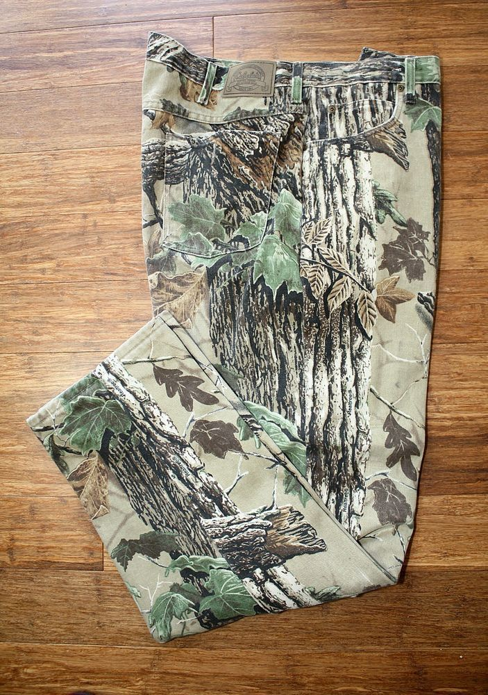 CABELA'S Camo Pants Slacks Real Tree 100% Cotton Camouflage Hunting Fishing 42  #Cabelas