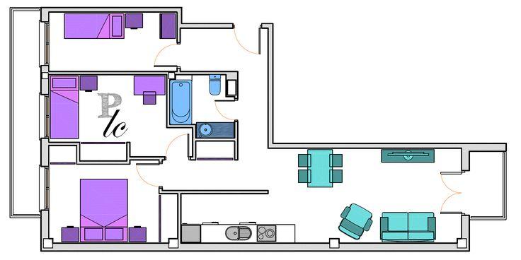 planos low cost: Un dormitorio más en la casa de Ruth / One more bedroom in Ruth's house