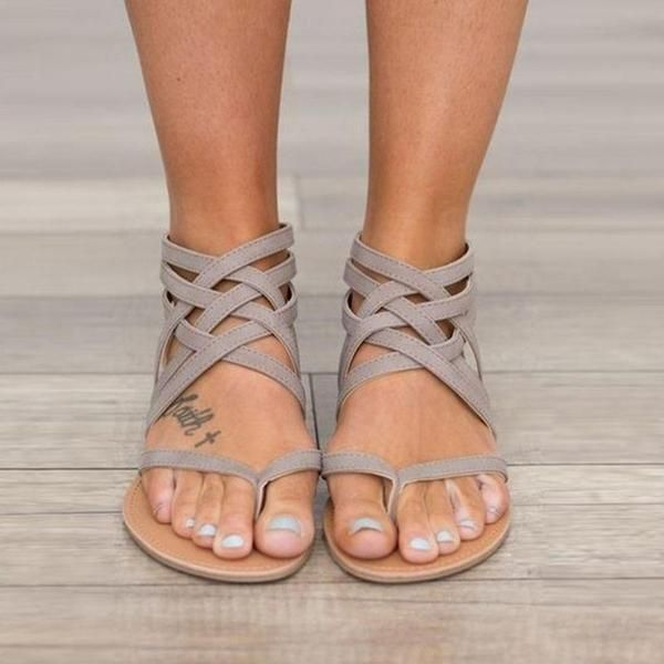 cba9c8398cc7 Sandals - Ladies Ankle Strap Flats Sandals – Kaaum