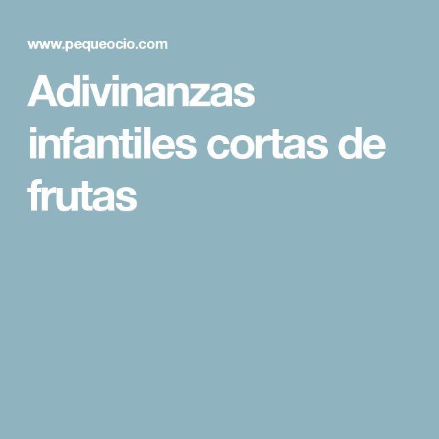 Adivinanzas infantiles cortas de frutas