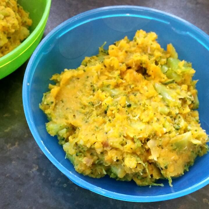 This was such a winner with my baby when she was around 7 months old (and still is actually!). Sweet potato is so good for our children's immune and digestive systems and broccoli is a classic 'health food' which aids the development of your baby's bones, skin and heart. I mash these veggies with coconut oil as this tastes great and helps their bodies absorb and utilise the beneficial properties of the vegetables.