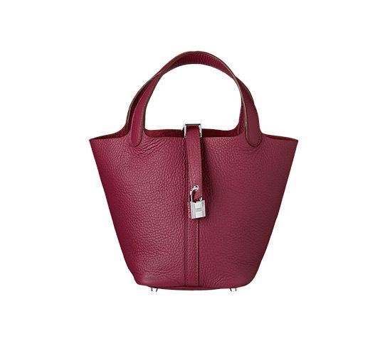Picotin Lock 18 Hermes bag (size 18) Ruby taurillon clemence ...