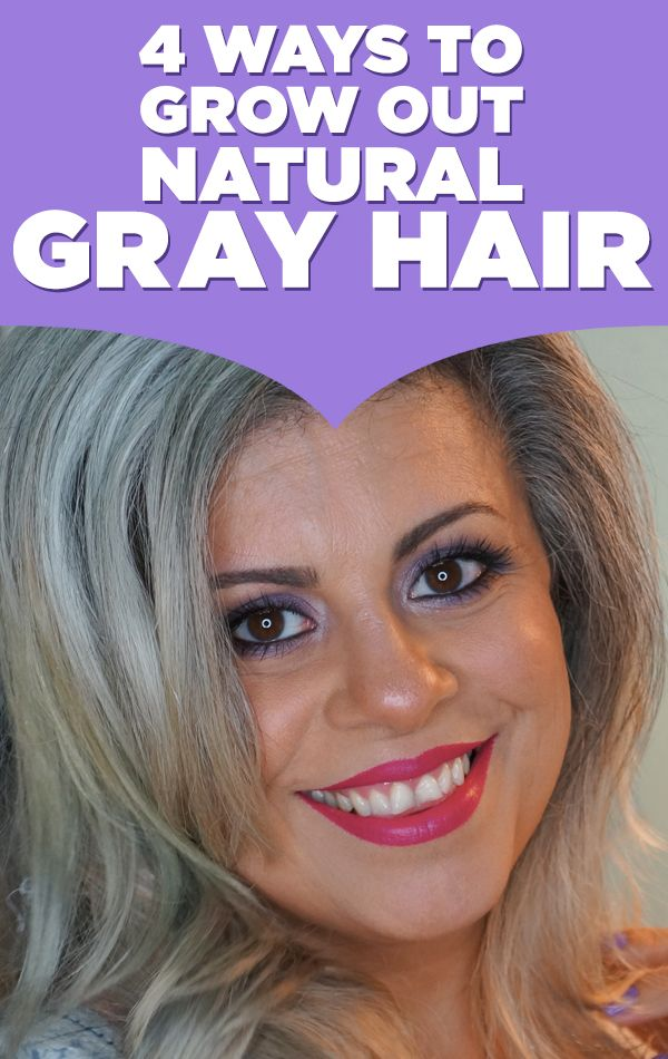 ... are 4 ways to grow out natural gray hair if you're thinking of