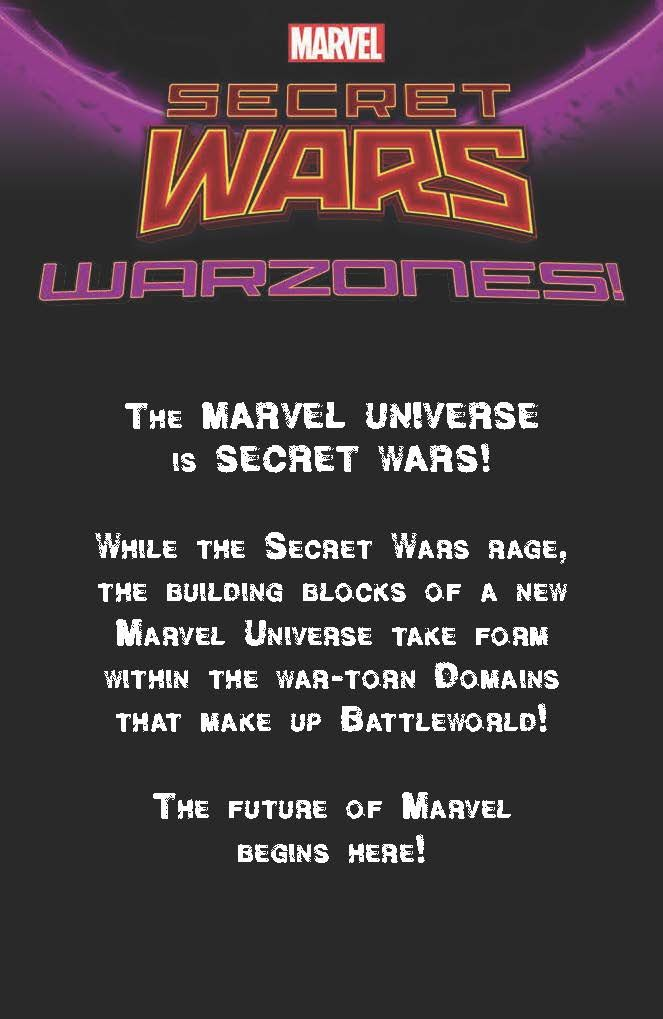 """COMICS: Marvel Presents The Last of Three Series Banners For SECRET WARS; """" Warzone"""