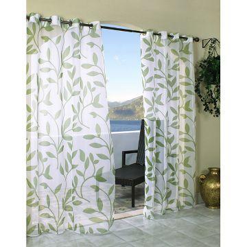 Outdoor Decor™ Escape Leaf Indoor/Outdoor Grommet Top Sheer Curtain Panel