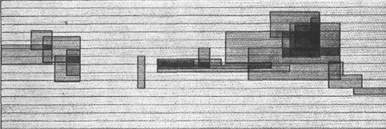 Partition graphique d'Electronische Studie  _Karlheinz Stockhausen