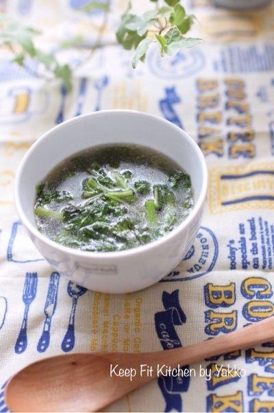 簡単レシピ】緑黄食野菜を食べよう!モロヘイヤのスープ by 栄養士 ...