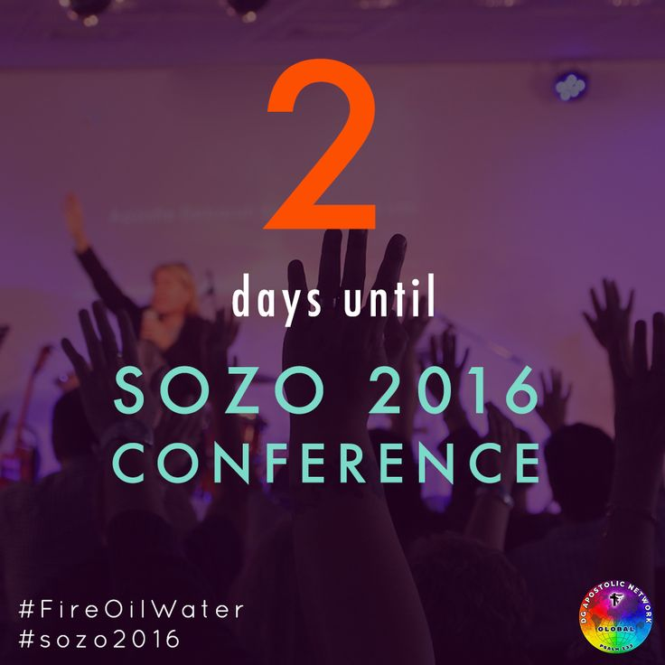 Only 2 days remain until we kick off SOZO 2016 on Thursday, 4 August @ 7pm! Visit sozo.deogloria.org for more details #sozo2016! #FireOilWater #lgbt #gaychurch #gaychristian #allpeople #durban