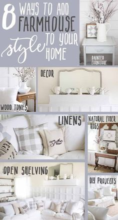 What to do when you no longer love the style of your home? Perhaps your house is fully furnished.. and now you have style guilt! Or you have furniture that no longer functions for your home but you just can't part with it! Here are 8 ways to add farmhouse style in your home and create the space a space you have always dreamed of!!