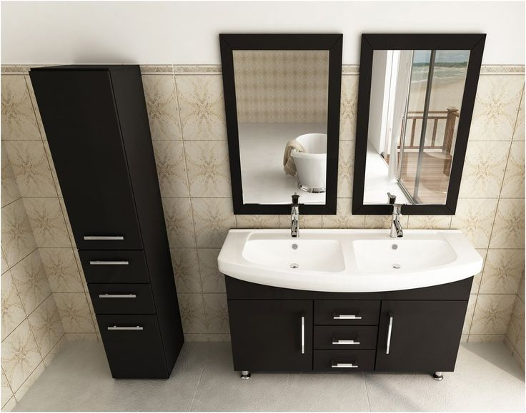 avola 48 inch double sink bathroom vanity espresso finish from Double Sink 48 Inch Bathroom Vanity